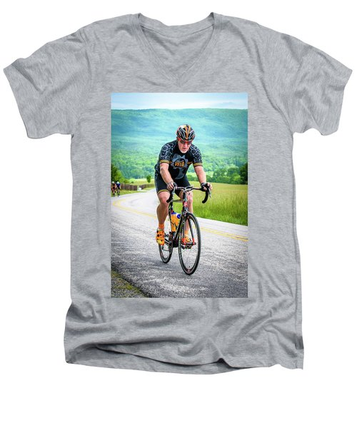 Cyclist Men's V-Neck T-Shirt