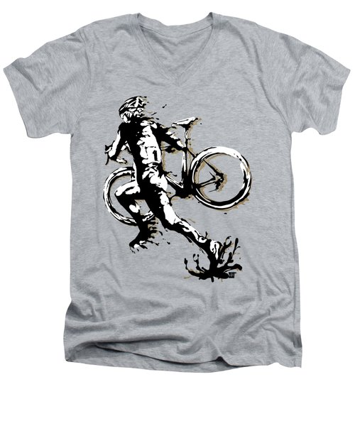 Cyclocross Poster1 Men's V-Neck T-Shirt
