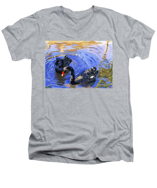Cygnus Atratus Men's V-Neck T-Shirt