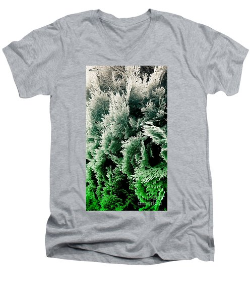 Cypress Branches No.5 Men's V-Neck T-Shirt