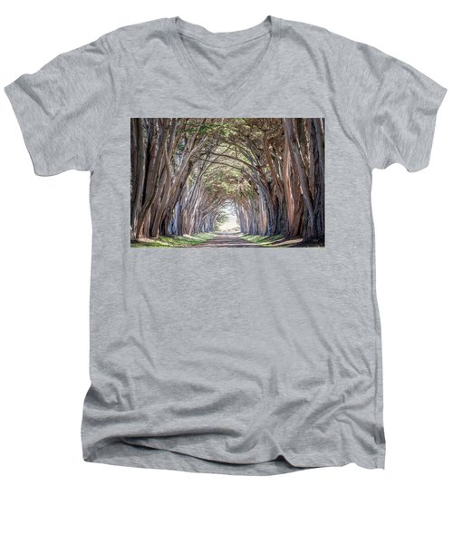 Men's V-Neck T-Shirt featuring the photograph Cypress Embrace by Everet Regal