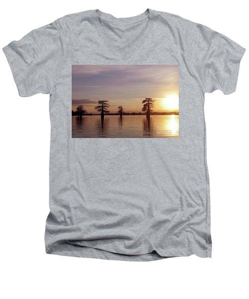 Cypress Sunset Men's V-Neck T-Shirt