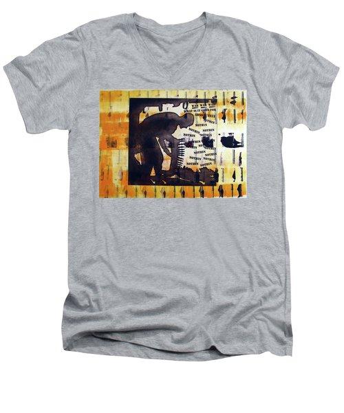 D U Rounds Project, Print 14 Men's V-Neck T-Shirt