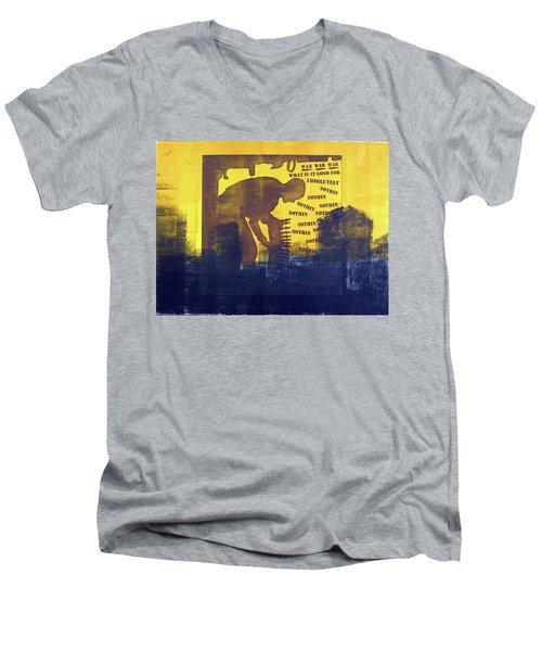 D U Rounds Project, Print 31 Men's V-Neck T-Shirt