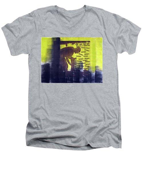 D U Rounds Project, Print 32 Men's V-Neck T-Shirt