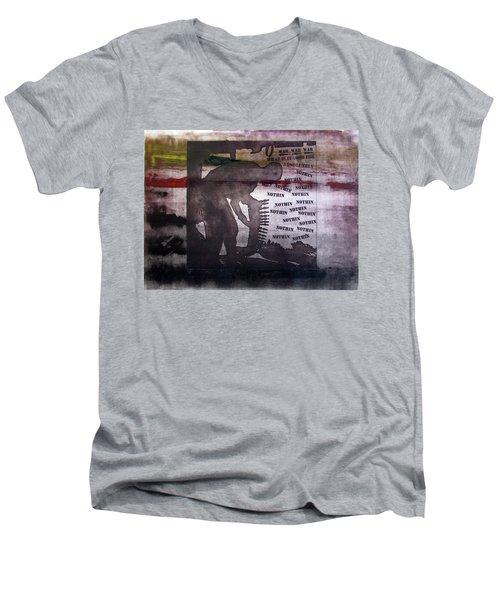 D U Rounds Project, Print 42 Men's V-Neck T-Shirt