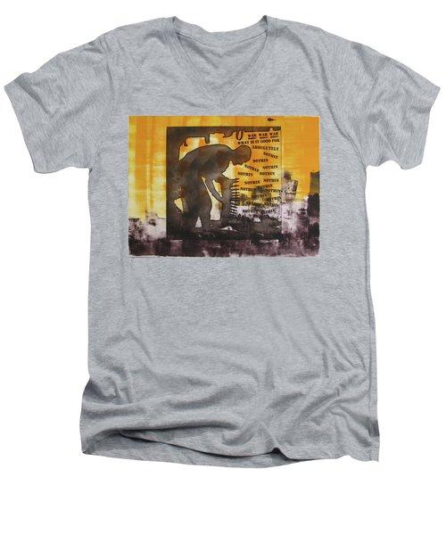 D U Rounds Project, Print 49 Men's V-Neck T-Shirt
