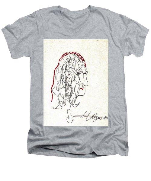 Da Vinci Drawing Men's V-Neck T-Shirt