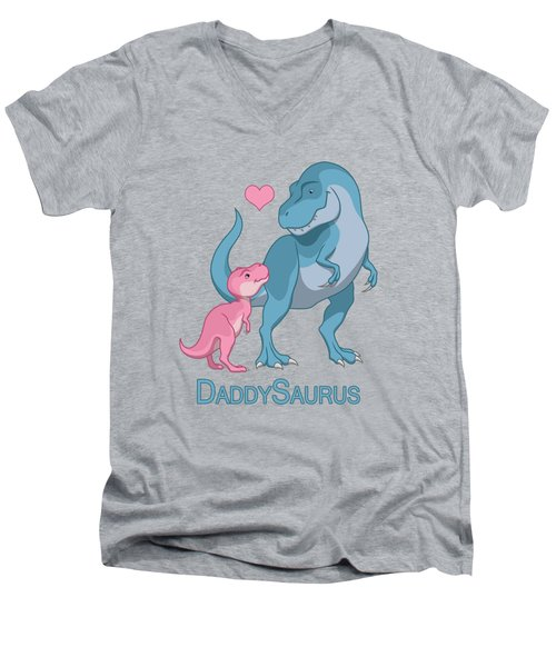 Daddy Tyrannosaurus Rex Baby Girl Men's V-Neck T-Shirt