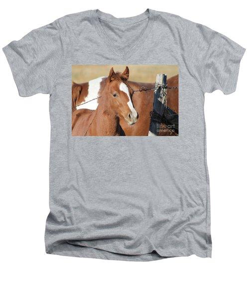 Daddys Home Men's V-Neck T-Shirt by Pamela Walrath
