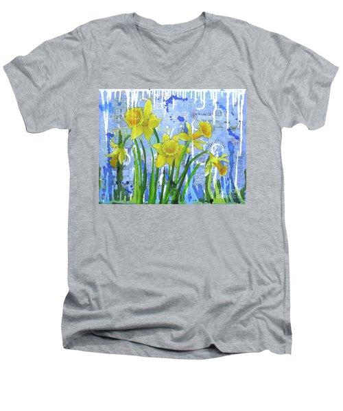 Daffodil Ding Dongs Men's V-Neck T-Shirt