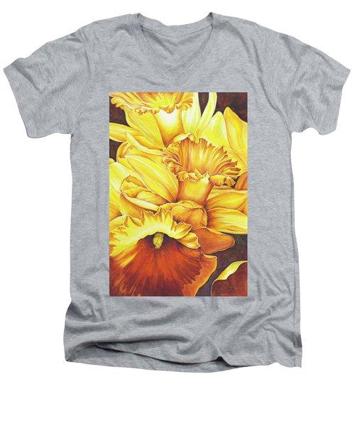 Daffodil Drama Men's V-Neck T-Shirt