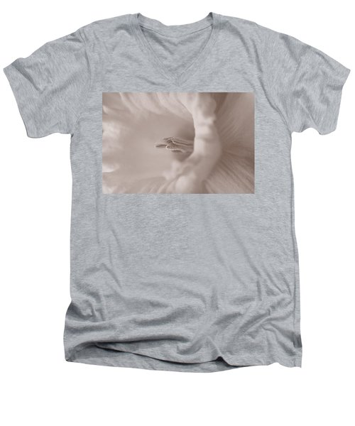 Daffodil In White Men's V-Neck T-Shirt