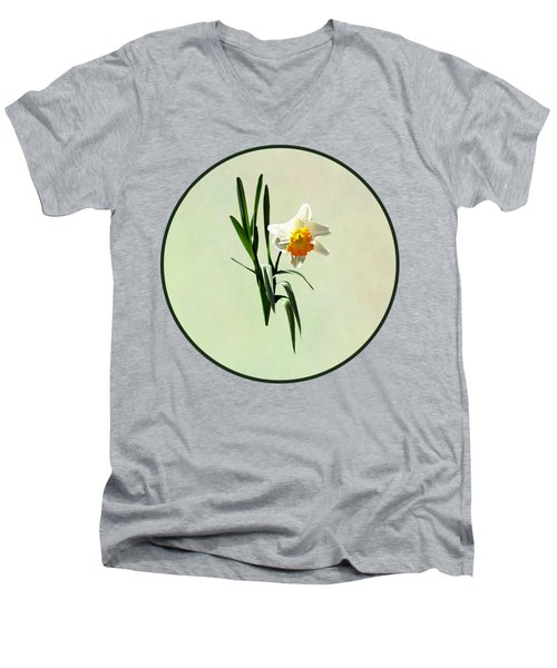 Daffodil Taking A Bow Men's V-Neck T-Shirt