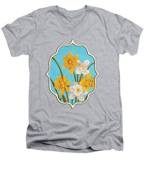 Daffodils Men's V-Neck T-Shirt by Anastasiya Malakhova