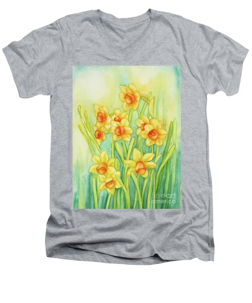 Daffodils In Yellow Men's V-Neck T-Shirt