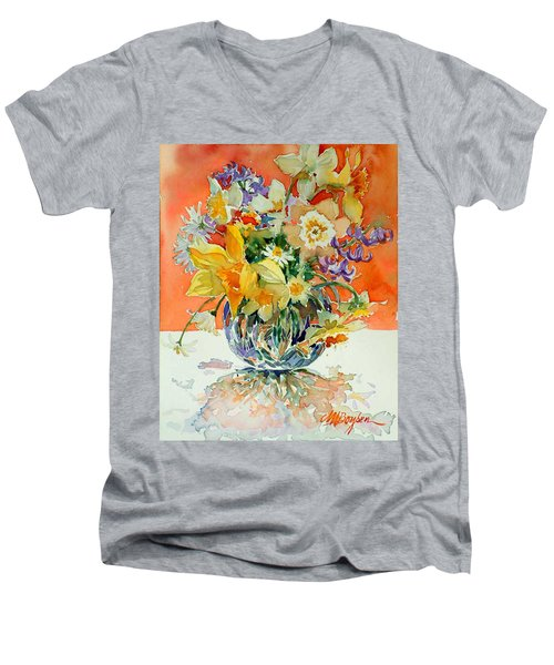 Daffs And Daisies Men's V-Neck T-Shirt
