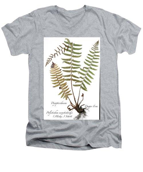 Dagger Fern Men's V-Neck T-Shirt