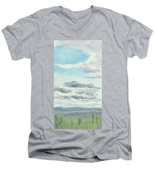 Dagrar Over Salenfjallen- Shifting Daylight Over Distant Horizon 10 Of 10_0029 Men's V-Neck T-Shirt