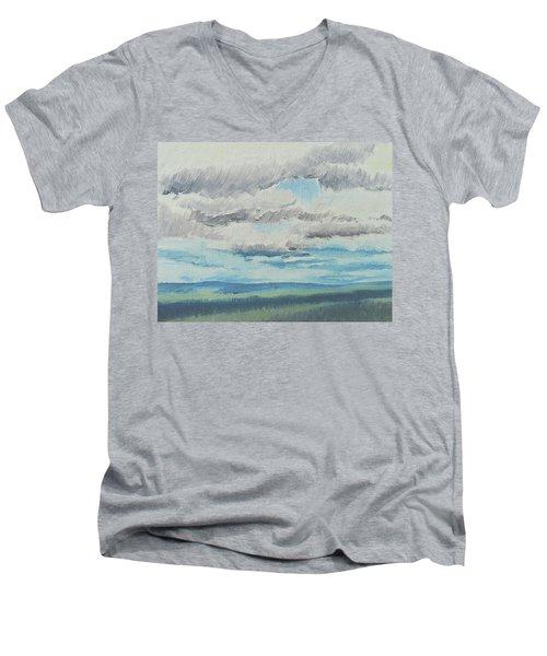 Dagrar Over Salenfjallen- Shifting Daylight Over Distant Horizon 8 Of 10_0029 Men's V-Neck T-Shirt
