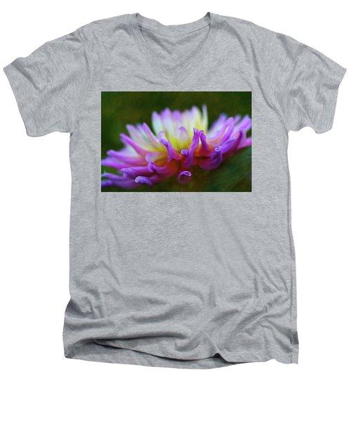 Dahlia Bloom  Men's V-Neck T-Shirt