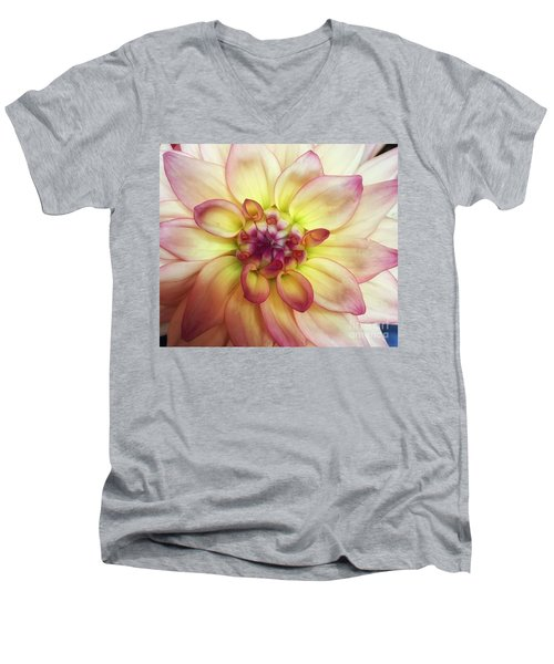 Dahlia Delight Men's V-Neck T-Shirt
