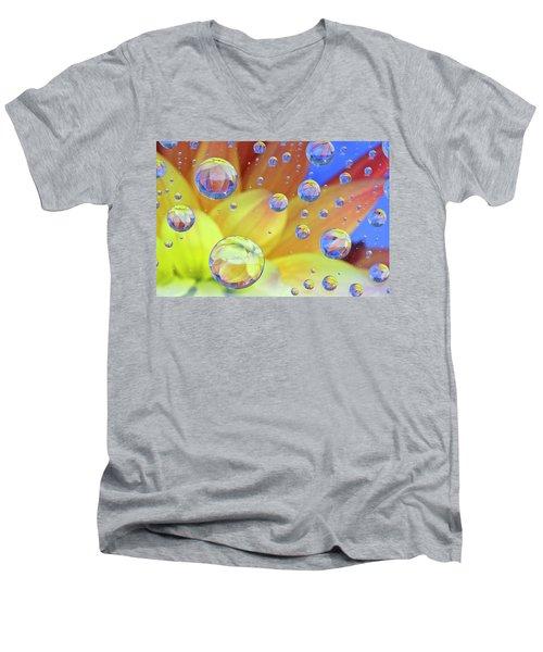 Dahlia Galaxy Two Men's V-Neck T-Shirt