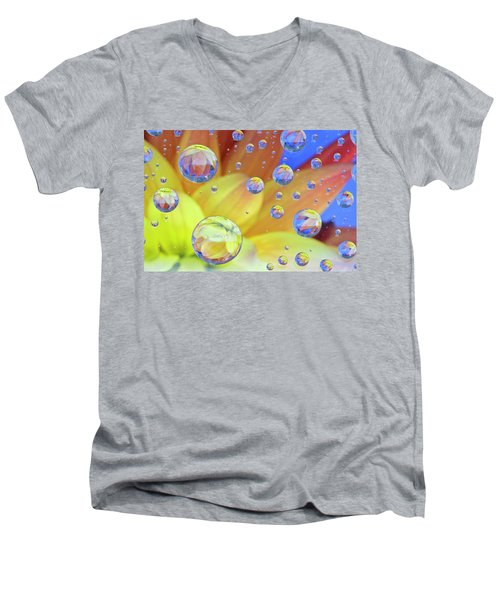Dahlia Galaxy Two Men's V-Neck T-Shirt