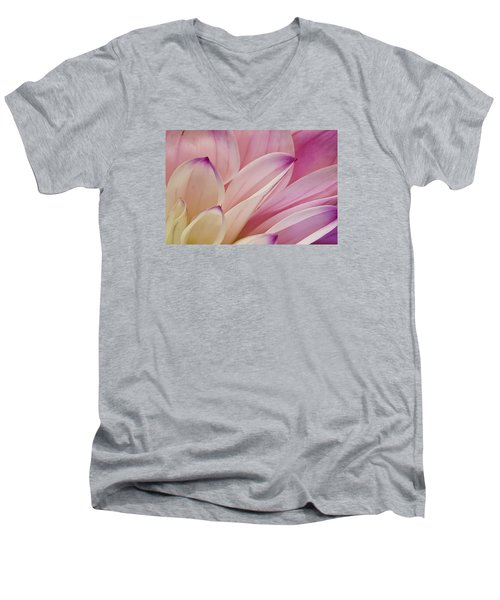 Dahlia Petals 3 Men's V-Neck T-Shirt