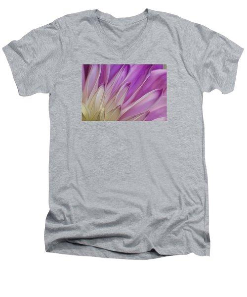 Dahlia Petals Men's V-Neck T-Shirt