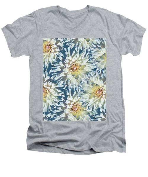 Dahlias 2 Men's V-Neck T-Shirt