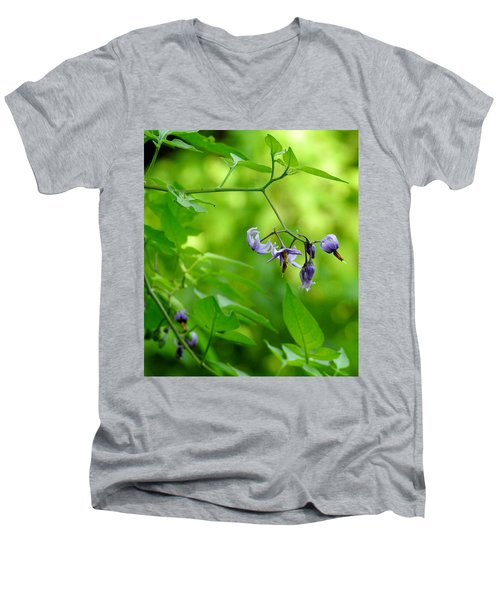 Men's V-Neck T-Shirt featuring the photograph Dainty by Betty-Anne McDonald