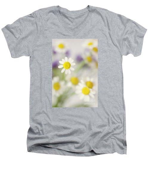 Daisies In Morning Mist Men's V-Neck T-Shirt