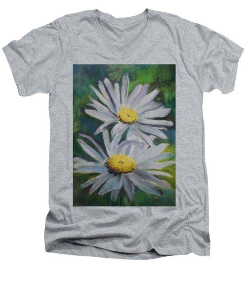 Daisies Men's V-Neck T-Shirt