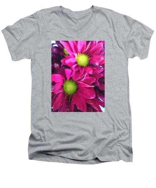Daisy Days Men's V-Neck T-Shirt