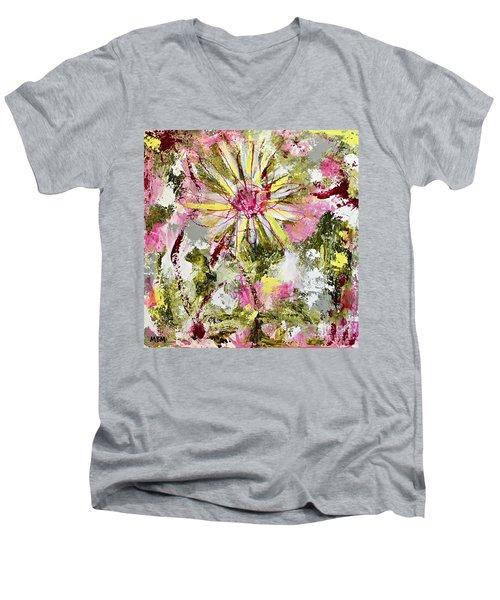 Daisies On Parade No. 1 Men's V-Neck T-Shirt