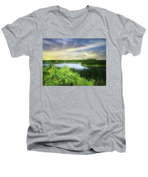 Dakota Wetlands 7 Men's V-Neck T-Shirt