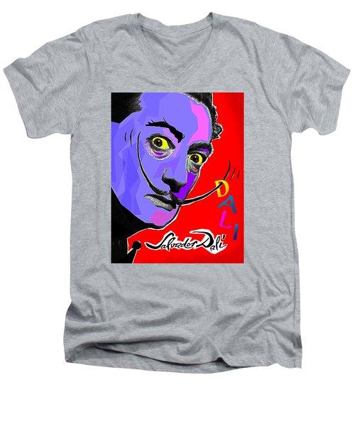 Dali Dali Men's V-Neck T-Shirt by Hartmut Jager