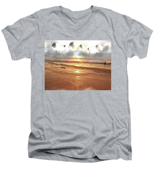Men's V-Neck T-Shirt featuring the photograph Dali, Here In Brazil by Beto Machado