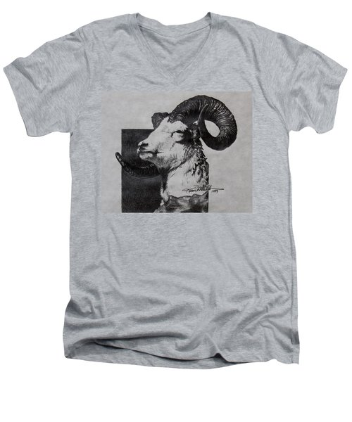 Dall Ram Men's V-Neck T-Shirt by Karon Melillo DeVega