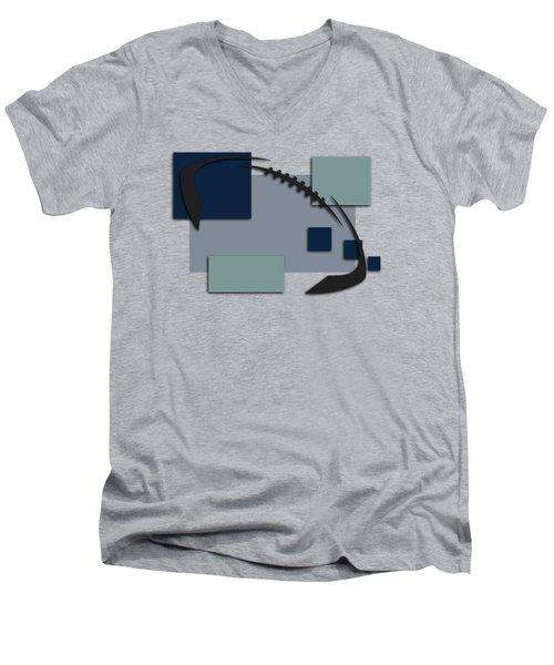 Dallas Cowboys Abstract Shirt Men's V-Neck T-Shirt by Joe Hamilton