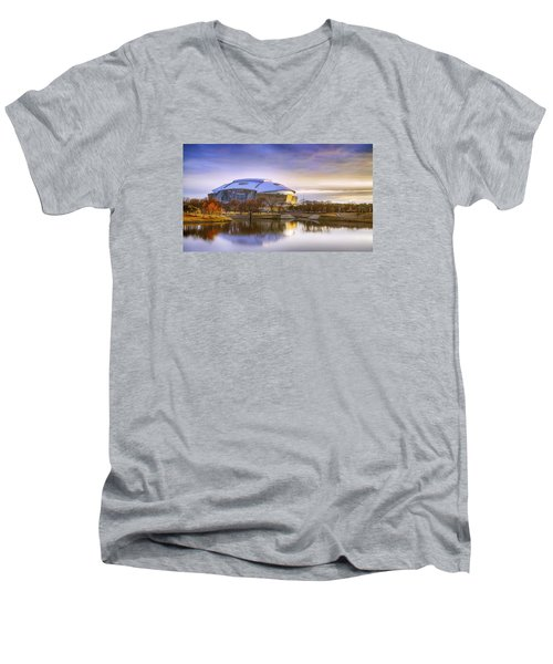 Dallas Cowboys Stadium Arlington Texas Men's V-Neck T-Shirt
