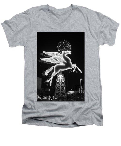 Dallas Pegasus Bw 121517 Men's V-Neck T-Shirt