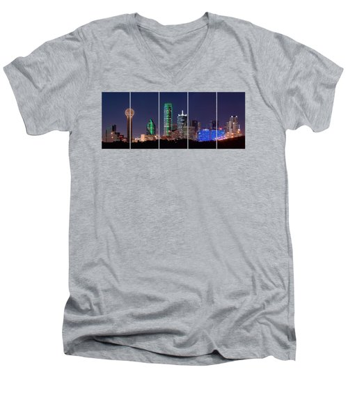Dallas Png Transparency 031018 Men's V-Neck T-Shirt