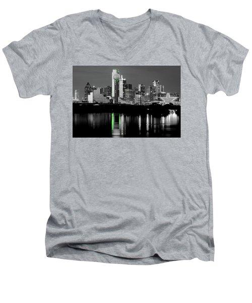 Dallas Skyline Gr91217 Men's V-Neck T-Shirt