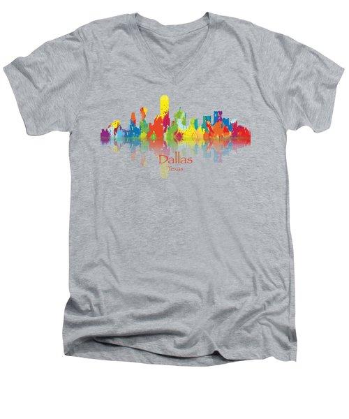 Dallas Texas Tshirts And Accessories Art Men's V-Neck T-Shirt by Loretta Luglio