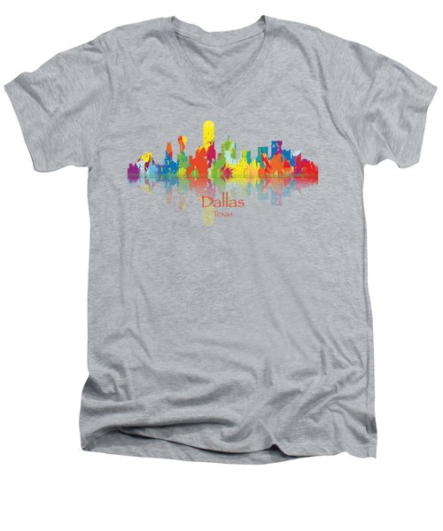 Dallas Texas Tshirts And Accessories Art Men's V-Neck T-Shirt