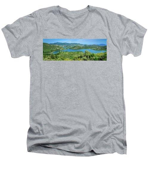 Dalmatian Coast Panorama, Dalmatia, Croatia Men's V-Neck T-Shirt