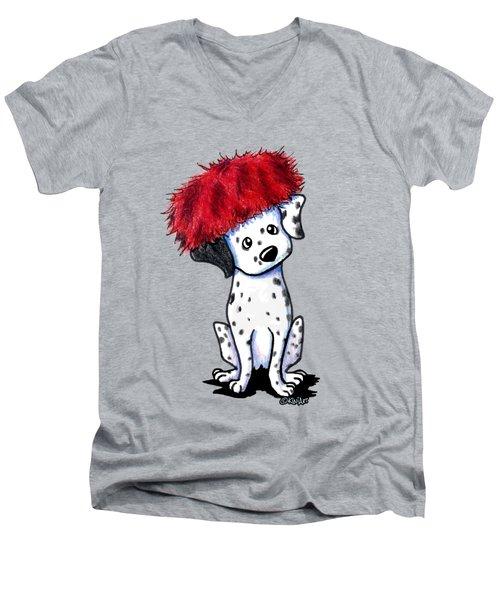 Dalmatian In Red Men's V-Neck T-Shirt