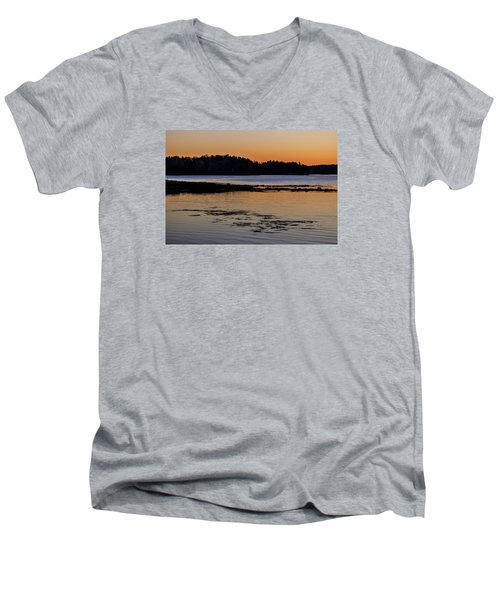 Damariscotta Twilight Men's V-Neck T-Shirt